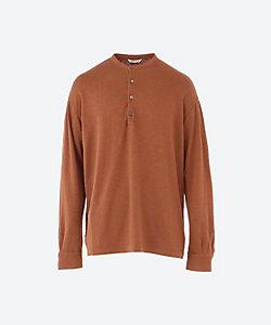 AURALEE(Men)/オーラリー ヘンリーネック長袖Tシャツ STRETCH LINEN JERSEY HENLEY NECK P/O A21SH01LT