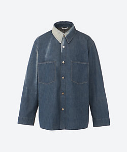 AURALEE(Men)/オーラリー デニムシャツブルゾン SUN FADE BLEACH LIGHT DENIM SHIRTS BLOUSON A21SB01PD