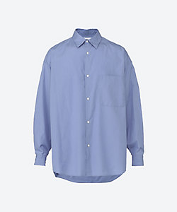 Graphpaper(Men)/グラフペーパー カジュアルシャツ Broad Oversized L/S Regular Collar Shirt GM211 20104B