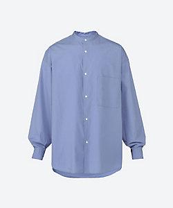 Graphpaper(Men)/グラフペーパー カジュアルシャツ Broad Oversized L/S Band Collar Shirt GM211 50111B
