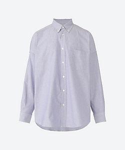 MARKAWARE(Men)/マーカウェア カジュアルシャツ COTTON OXFORD POLO COLLAR TENT SHIRT A21A 09SH02C