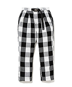 EXPLOREREASYPANTS COTTONTWILL BLOCKPLAID WITH FIDLOCK BUCKLE NN‐P3743