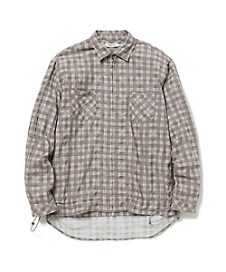 nonnative(Men)/ノンネイティブ コットンチェックシャツジャケット WORKER SHIRT JACKET COTTON TWILL PLAIDPRINT NN‐SJ3705