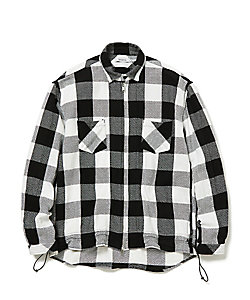 コットンチェックシャツジャケット WORKER SHIRT JACKET COTTON TWILL BLOCKPLAID NN‐SJ3706