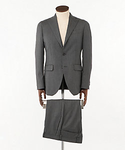 ISETAN MEN'S(Men)/イセタンメンズ 灰ヘリンボンスーツ(Vitale Barberis Canonico社製生地使用)