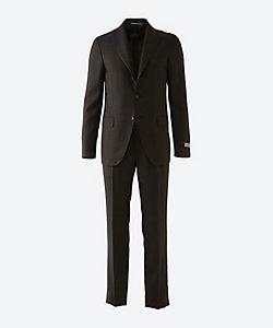 Canali(Men)/カナーリ ミックスチェック シングル 3ボタン 1プリーツ スーツ