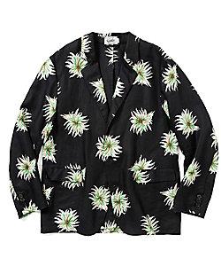 CALEE (Men)/キャリー Allover flower pattern linen jacket 21SS015SP