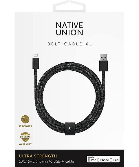 <ネイティブユニオン/NATIVE UNION> ベルトケーブル(NU-BELT-XL-03) クロ 【三越・伊勢丹/公式】