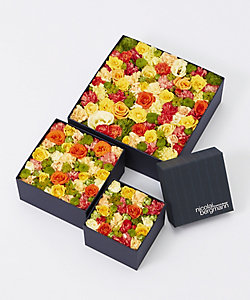 Nicolai Bergmann Flowers & Design/ニコライ バーグマン フラワーズ & デザイン 【伊勢丹新宿店限定】フレッシュフラワーボックス(オレンジ)
