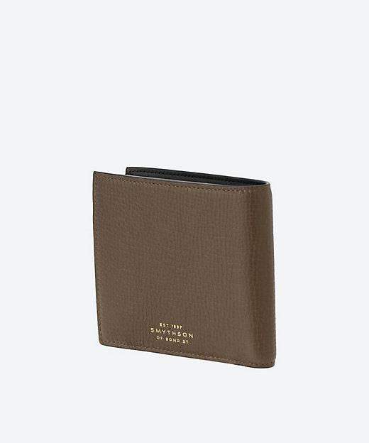 子番◆二ツ折小銭入れ付き財布 BLACK