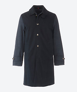 ISAIA(Men)/イザイア ウール×コットン リバーシブル ステンカラー コート