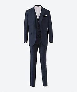 Kiton(Men)/キートン シングル 2ボタン スリーピース スーツ ネイビー