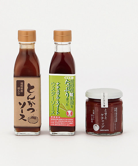 &starf;【産直】<コックソース>うまか!福岡のソース&ケチャップセット 【三越・伊勢丹/公式】