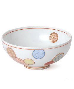 深川製磁/フカガワセイジ 赤絵丸紋 3.3飯碗
