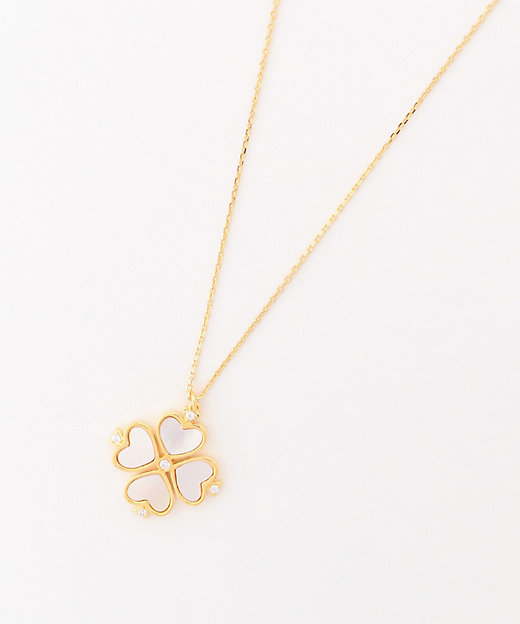 <KATE SPADE NEW YORK(Women)/ケイト・スペード ニューヨーク> DEMI FINE LEGACY LOGO SPADE FLOWER MINI PENDANT CREAM MULTI【三越..