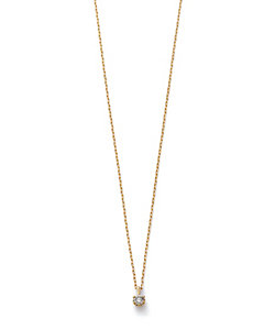 agete/アガット K18YGダイヤモンドネックレス