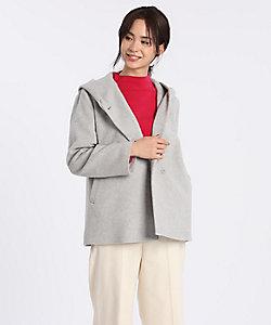I.T.'S. INTERNATIONAL(Women)/イッツインターナショナル フーデッドショートコート《Super110's Wool》(1004112001)