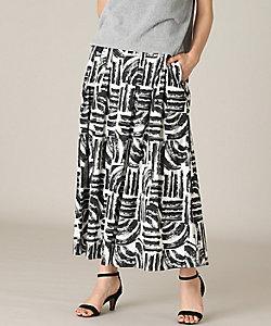 7IDコンセプト(Women)/セブンアイディコンセプト 幾何柄ギャザースカート(7011152014)