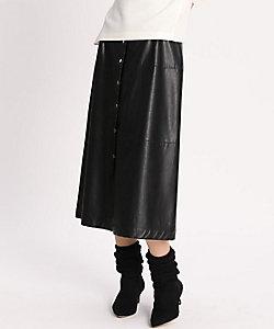 Luftrobe(Women)/ルフトローブ 《Luftrobe》フェイクレザースカート(7104152204)