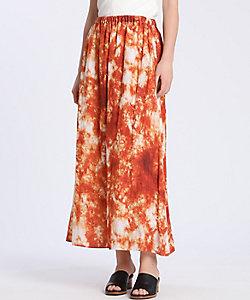 INED L(Women/大きいサイズ)/イネドL 《大きいサイズ》大理石プリントスカート(7502152016)