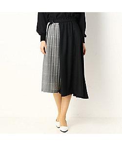 COMME CA(Women)/コムサ シアーチェック グレンチェック デザインスカート(0107FT02)