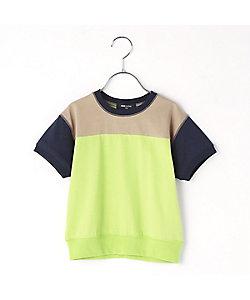 COMME CA FILLE(Baby&Kids)/コムサ・フィユ 配色3本針Tシャツ(0521TT21)