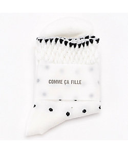 COMME CA FILLE(Baby&Kids)/コムサ・フィユ ドット柄クルーソックス(0564QP07)