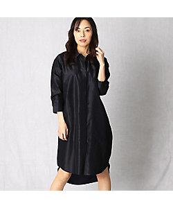 シルクタフタシャツドレス(0804OP04)