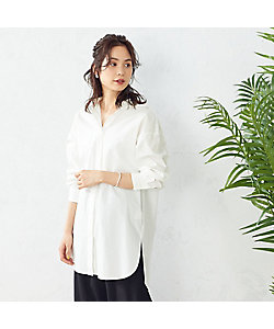 COMME CA ISM(Women)/コムサ イズム フード付きシャツ(1215HT14)