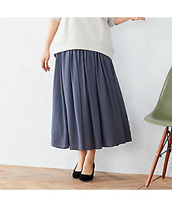 COMME CA ISM(Women)/コムサ イズム 〈ウエストゴム〉 ワッシャー ギャザースカート(1250FT02)