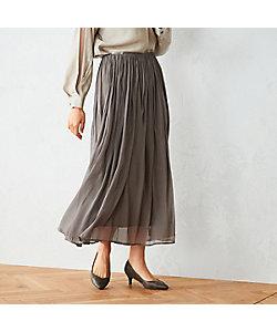 COMME CA ISM(Women)/コムサ イズム 〈ウエストゴム〉 シフォン ギャザースカート(1250FT03)