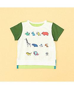 COMME CA FOSSETTE(Baby&Kids)/コムサ・フォセット つなごうよTシャツ(2003TT05)