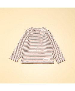 COMME CA FOSSETTE(Baby&Kids)/コムサ・フォセット フードテキスタイル染め ボーダー柄 長袖Tシャツ(2021TT30)