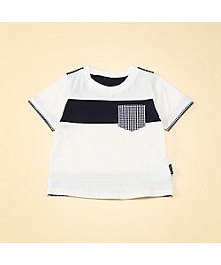 COMME CA ISM (Baby&Kids)/コムサイズム (ベビー&キッズ) ギンガムチェック使い 半袖Tシャツ(80・90サイズ)(2341TT05)