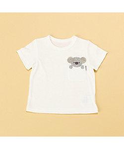 COMME CA ISM (Baby&Kids)/コムサイズム (ベビー&キッズ) 動物アップリケ付き 半袖Tシャツ(80・90サイズ)(2342TT06)