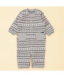 COMME CA ISM (Baby&Kids)/コムサイズム (ベビー&キッズ) フェアアイル裏起毛 ツーウェイオール(50ー70サイズ)(2349ER04)
