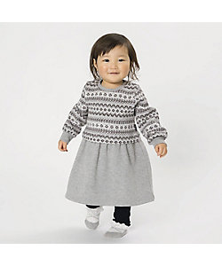 COMME CA ISM (Baby&Kids)/コムサイズム (ベビー&キッズ) フェアアイル裏起毛 ワンピース(80・90サイズ)(2349OR05)