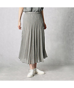 BASILE28(Women)/バジーレヴェントット シアーポプリン プリーツスカート(2802FR01)
