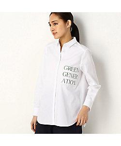 COMME CA Sサイズ(Women)/コムサ エスサイズ 〔Sサイズ〕メッセージプリントシャツ(5470HT01)