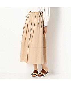 GABARDINE K.T(Women)/ギャバジンケーティー キラキラストライプ スカート(7204FP03)