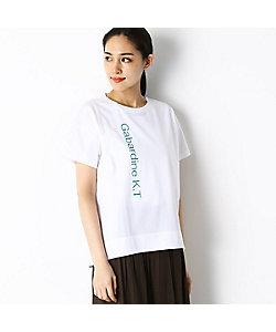 GABARDINE K.T(Women)/ギャバジンケーティー ロゴプリント Tシャツ(7294EP12)