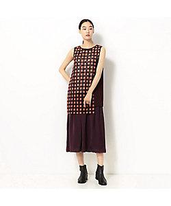 GABARDINE K.T+(Women)/ギャバジンケーティー+ 石畳文様 刺繍セパレートドレス(7801ON01)