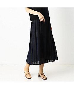 COMME CA Sサイズ(Women)/コムサ エスサイズ 〔Sサイズ〕【ウォッシャブル】カラープリーツ ロングプリーツスカート(9620FT06)
