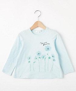 フラワープリント長袖Tシャツ(2001516574)