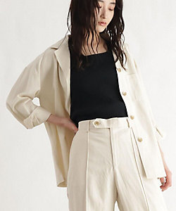 リネン混シャツジャケット(2001609337)