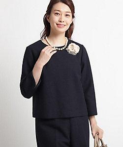 Dessin(Women)/デッサン 【ママスーツ/入学式 スーツ/卒業式 スーツ Sサイズあり】ツイードブラウス(2001617597)