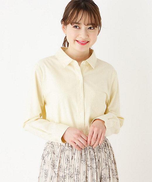 <SHOO LA RUE(Women)/シューラルー> コットン100%前開きシャツ イエロー【三越伊勢丹/公式】