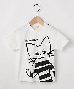 コットン100%ダモン&アッシュプリントTシャツ(2001620588)