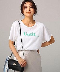 UNTITLED L(Women)/アンタイトルL [L]コットン天竺ロゴTシャツ(2001624554)