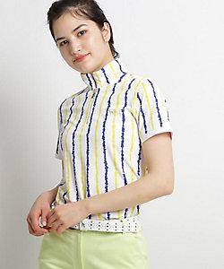 手書きタッチストライプ半袖ポロシャツ(2001625354)
